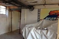 L'avancée des travaux dans la salle silencieuse...