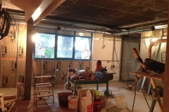 La future caféteria se transforme petit à petit ...